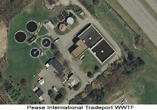Aerial photo of the Pease International Tradeport WWTF